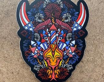 Explosive - Buffalo Themed Die Cut Sticker