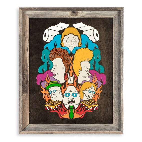 Fire! - Melted Crayon Original Art on Wood, 16x20