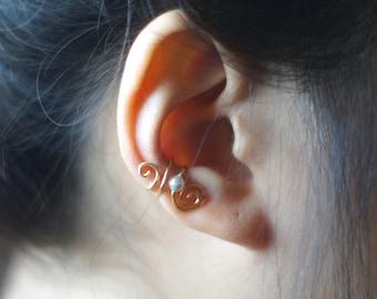 43)Swirl Pearl Ear Cuff