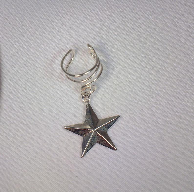 Ear Cuff; Star Charm Ear Cuff *Antique Silver 6