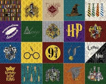 Complete Set: all 20 Harry Potter Quilt Blocks