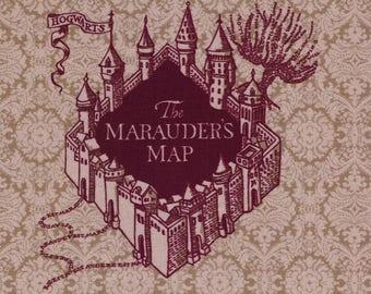 NEW The Marauder's Map: Harry Potter fabric print