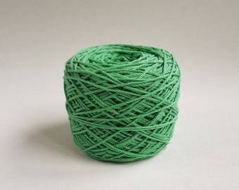 Pastel green hand dyed cotton yarn