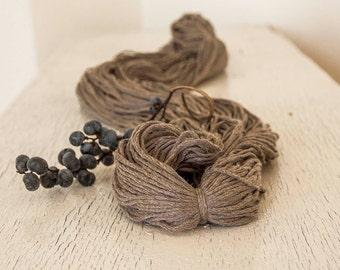 Smooth cotton yarn,Soft Cream Beige yarn, Coffee