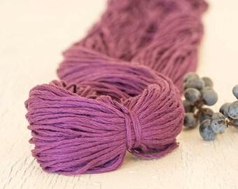 Smooth cotton yarn,Soft Eggplant