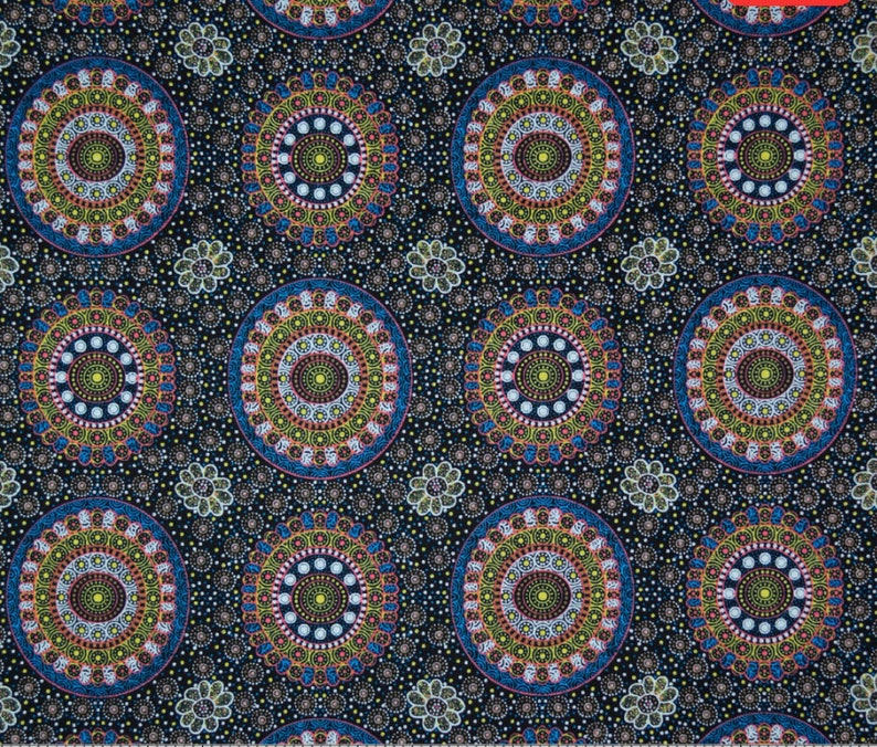 Alura Seed Dreaming Yellow An Authentic Aboriginal Fabric image 0