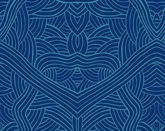 Untitled Blue, An Authentic Aboriginal Fabric