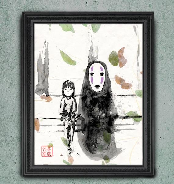 Studio Ghibli Art Spirited Away Authentic Asian Paper Real Etsy