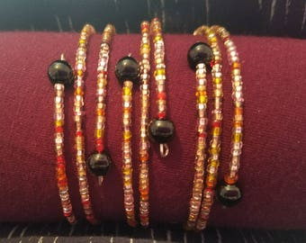 Colorful Beaded Wire Bracelet