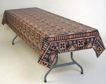 "One Dozen (12) Hawaiian Tapa print Plastic Tablecloths Table Covers ~ Tiki! Luau ~ Patio or Beach Party 54"" x 108"""