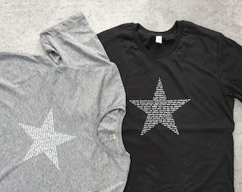 Men's Vote T-Shirt -Alternative Apparel Mens Tee- Star Vote Tee in 100 languages