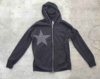 Unisex Star VOTE Zipped Hoodie -Bella Canvas - gift for everyone