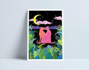 LARGE Jungle love by Niki Pilkington