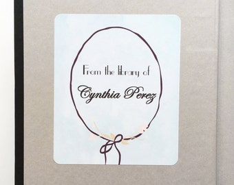 Personalized Bookplates- Peel and Stick- Bookplate- Labels