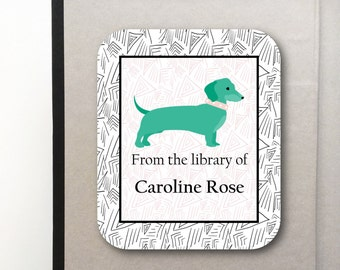 Bookplates- Peel and Stick- Bookplate Labels- Puppy Design