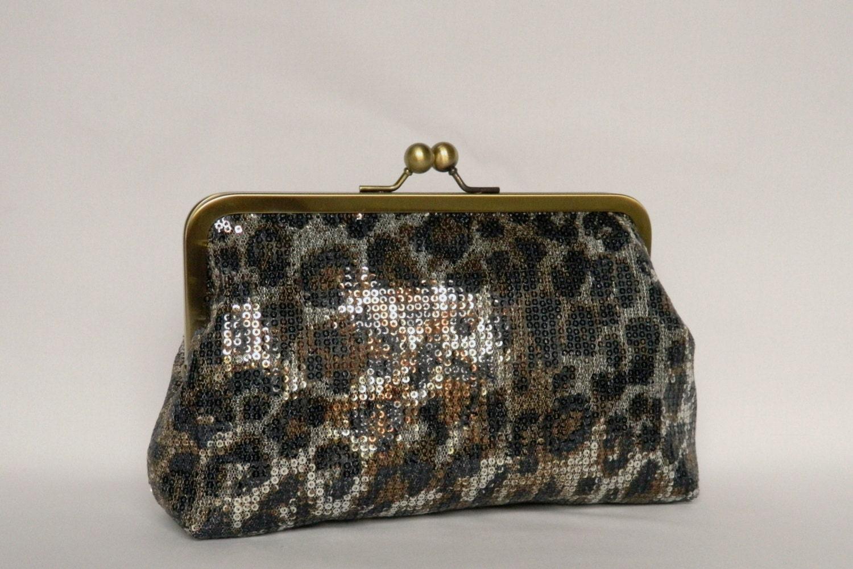 Ladies Bronze//Gold Sequin Bulaggi Clutch Bag 32309.73