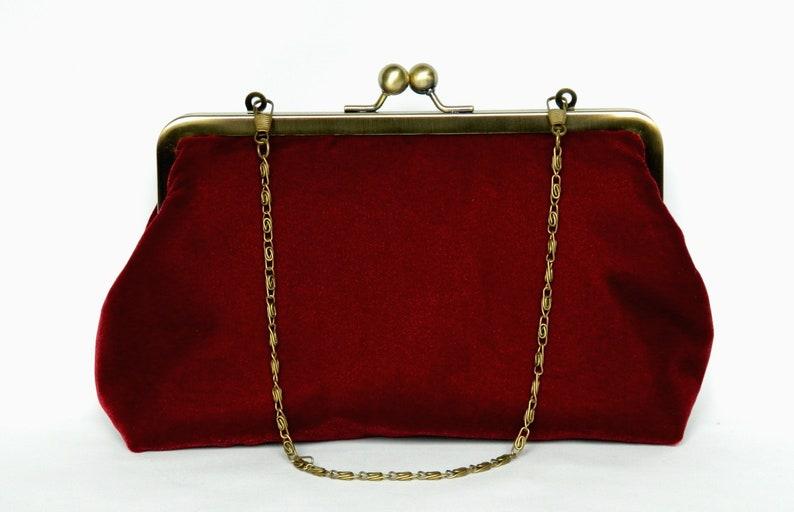 588c76080f Velvet Clutch Purse Burgundy Red Velvet Clutch Bag Clutch | Etsy