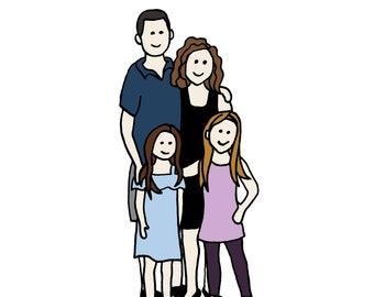 Custom Illustration - Family of 2