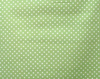 Vintage Barefoot Roses Tanya Weylan for Free Spirit Lime Green Polka Dot Fabric by the HALF YARD