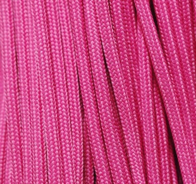 550Cord Pink Ready to Ship RTS Paracord Azalea 100 Foot Hank