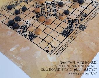 TAFL MINI Gungnir hnefatafl - small and portable hnefatafl board travels almost anywhere.