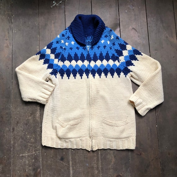 Vintage Hand Knit Sweater || Fair Isle Knit Sweate