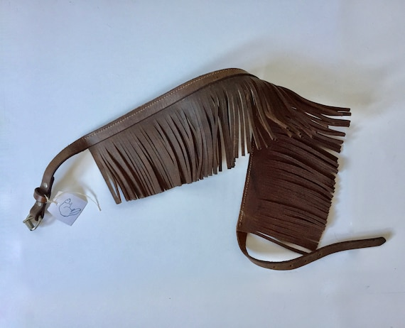 Leather Fringe Belt || Western Leather Belt || Fes