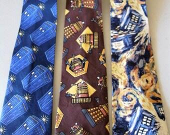 Dr. Who Men's Necktie