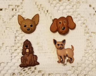 Dogs Magnets Lot of four refrigerator magnets