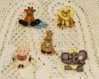 Baby Animals Refrigerator Magnets Set Of Five