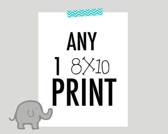 Any 8x10 print, nursery art sale, choose your colors