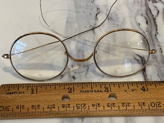 U.S.A. Antique eyeglasses; original case; American Optical;  W A Jones; FREE SHIPPING SALE