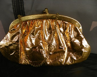 Vintage Gold Foil Evening Bag