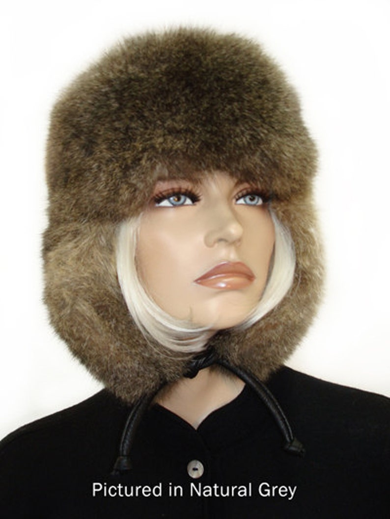 b9fd2f363b8 Possum Fur KGB Russian Hat    Coloured