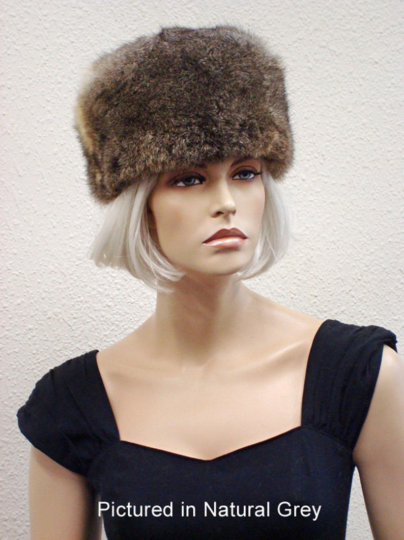 3370add0b8b Possum Fur Cossack Hat    Natural Grey