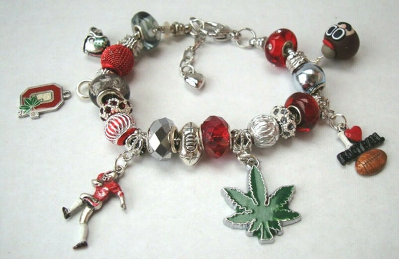 Football Charms for Large Hole Euro Dangle Bead fit European Charm Bracelet