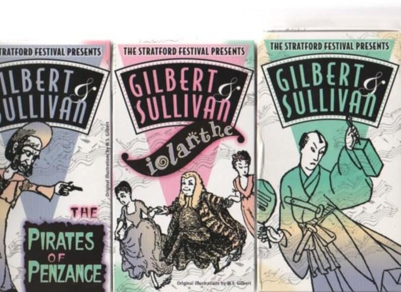 Gilbert & Sullivan Stratford Festival set of 3 VHS Mikado, Iolanthe,  Pirates of Penzance