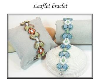 Leaflet bracelet PDF tutorial