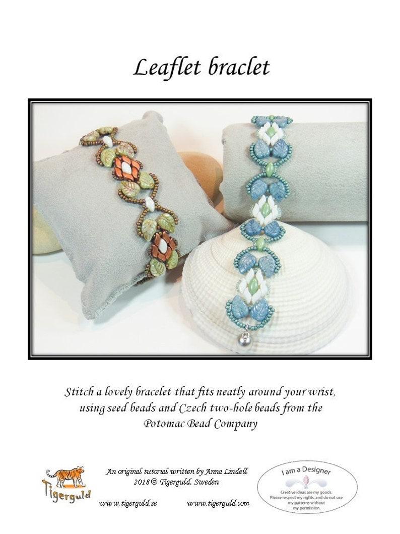 Leaflet bracelet - PDF tutorial by Anna Lindell