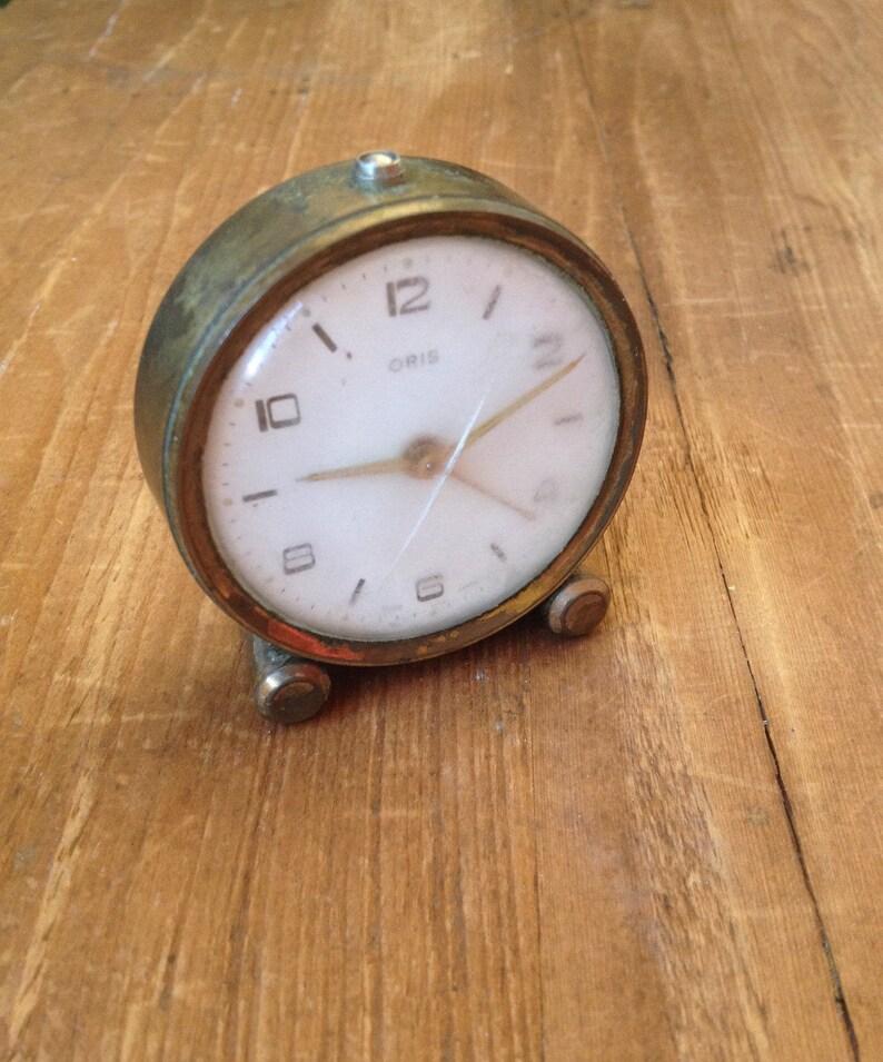 Wind Up Travel Alarm Clock Oris Swiss Made Vintage Small Wind Etsy
