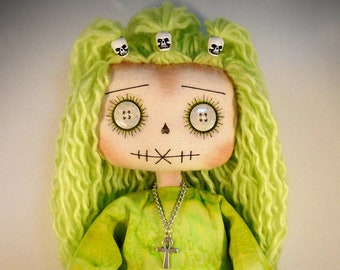 Shadow The Unique QUirky OOak COllectable GOth ARt DOll