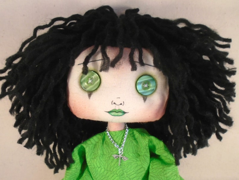 quirky gift Gift for sister Gothic gift OOAK Collectable doll cloth doll, Gothic Doll Gothic decor Gothic Handmade Cloth Art Doll