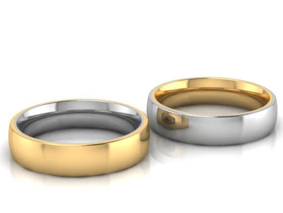 Trauringe Design2100 Inside Out Moderne Eheringe Paarpreis! verschiedene Varianten
