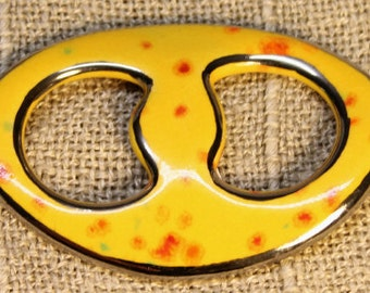 Scarf brooch yellow for thin cloths-unique