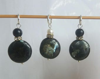 Labrodite and Pearl Stitch Markers