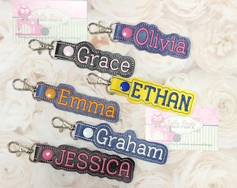 Backpack Name Tag, Personalized Luggage Tag, Personalized Name Tag, Backpack Label, Backpack Name Tag for Kids, Name Keychain, Veteran Owned