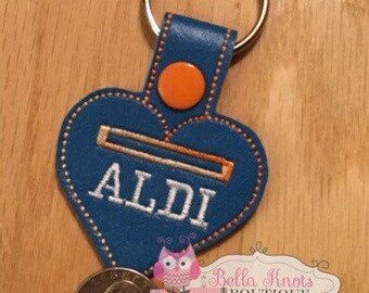 aldi quarter keeper, aldi key chain, Aldi, stocking stuffer, gift for her, gift for him, white elephant gift, gifts under 10
