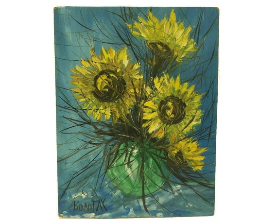 Michel Bonifax Sunflower Painting