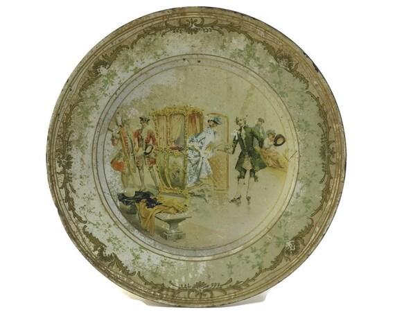Courtship Scene Tin Plate.