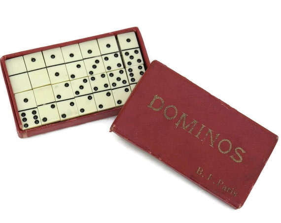 Miniature Travel Domino Set.